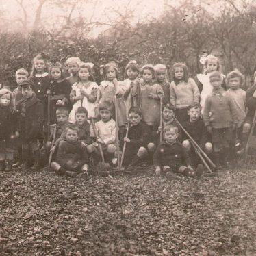 Studley.  Council School gardening class