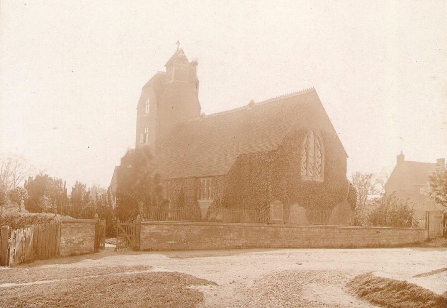 Thurlaston Parish Church before building work of 1908.  1900s |  IMAGE LOCATION: (Warwickshire County Record Office)