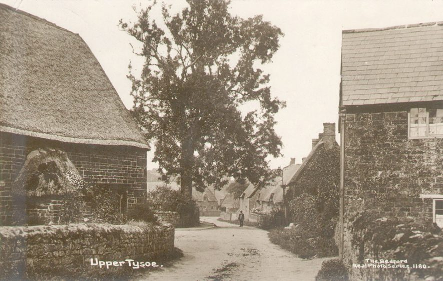 Street with cottages in Upper Tysoe.  1914 |  IMAGE LOCATION: (Warwickshire County Record Office)