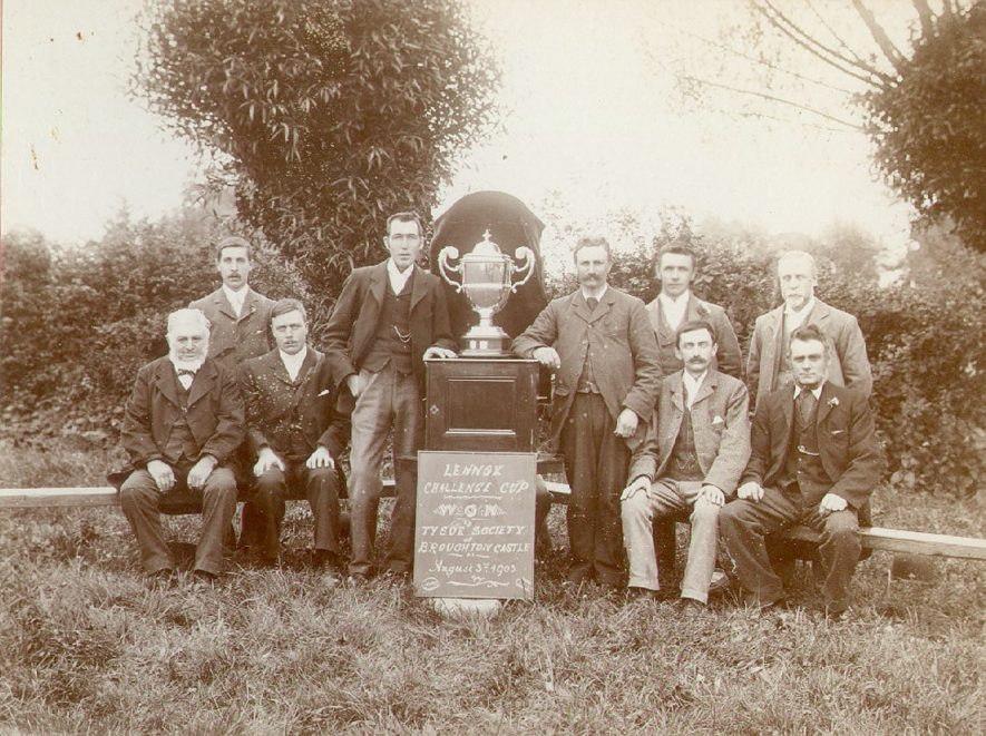 Tysoe Flower Show committee.  Winners of the Lennox Challenge Cup.  1903 |  IMAGE LOCATION: (Warwickshire County Record Office)