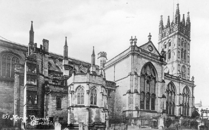 St Mary's Collegiate church, north side, Warwick.  1900s |  IMAGE LOCATION: (Warwickshire County Record Office)