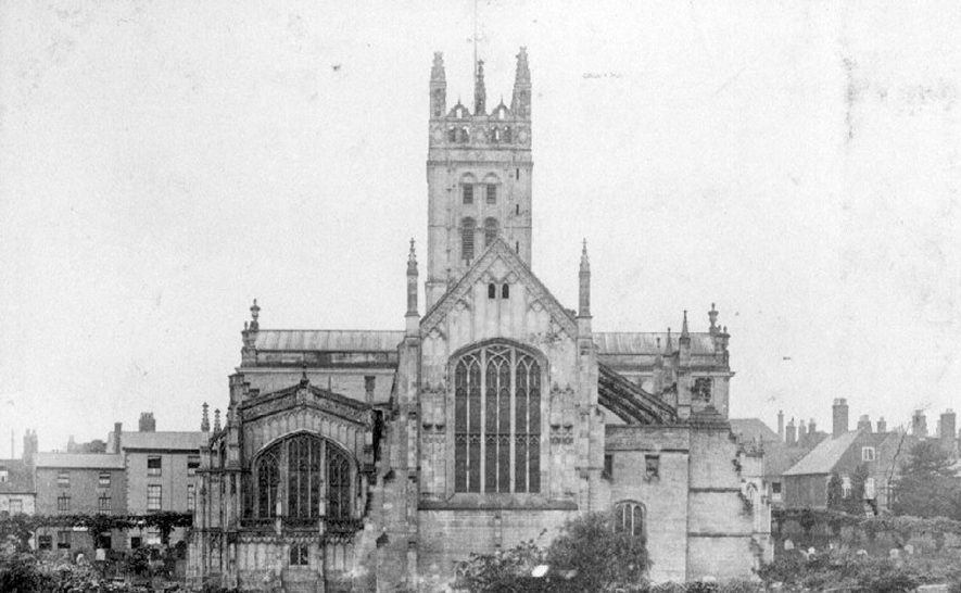 St Mary's Collegiate church east end, Warwick.  1900s |  IMAGE LOCATION: (Warwickshire County Record Office)