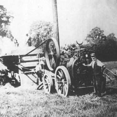 Cubbington.  Threshing machine