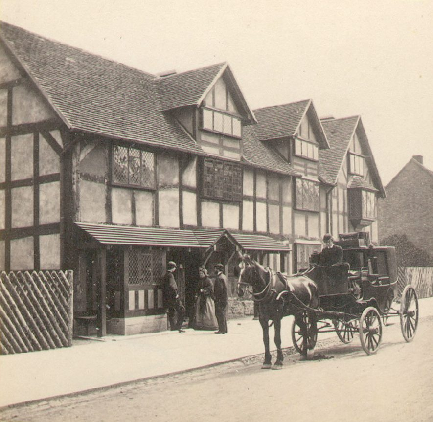 Shakespeare's House in Henley Street, Stratford upon Avon.  1870s |  IMAGE LOCATION: (Warwickshire County Record Office)