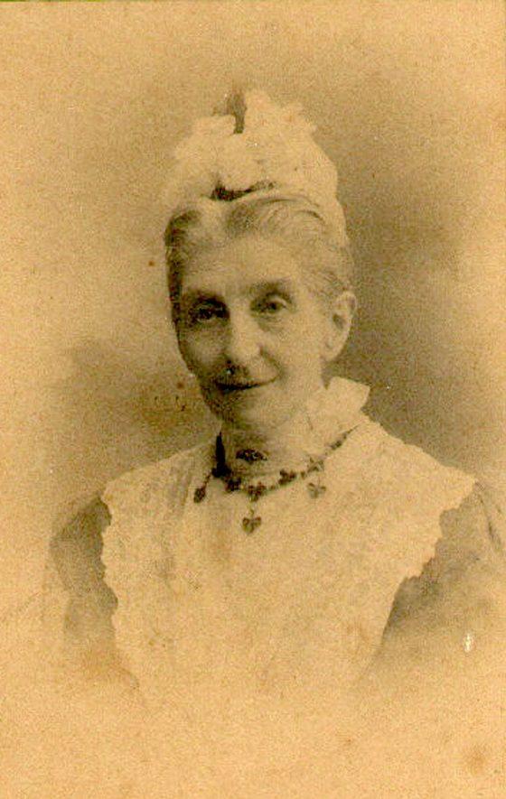 Sarah Sturge, Ettington.  1890s |  IMAGE LOCATION: (Warwickshire County Record Office) PEOPLE IN PHOTO: Sturge, Sarah, Sturge as a surname