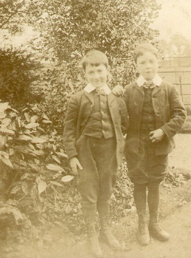 William (age 8) and Humphrey (age 7).  Probably Lowe family.  Ettington.  1890s |  IMAGE LOCATION: (Warwickshire County Record Office)