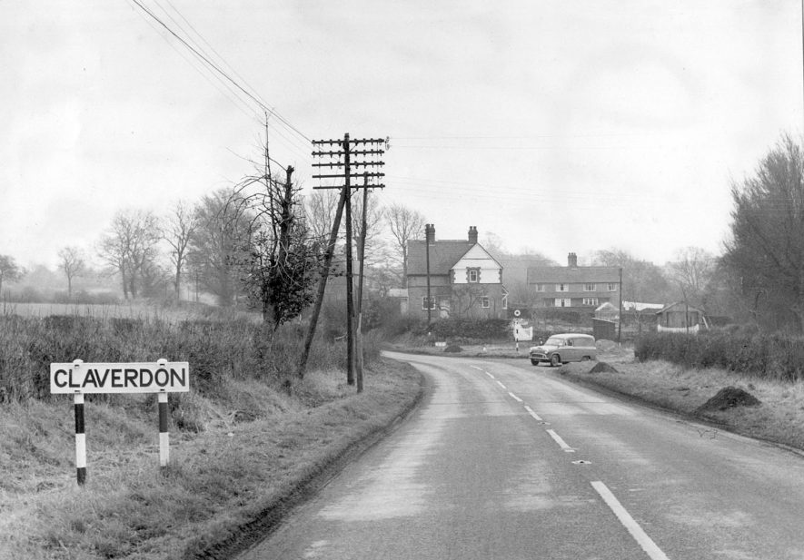 Road leading to Claverdon.  1960s    IMAGE LOCATION: (Warwickshire County Record Office)