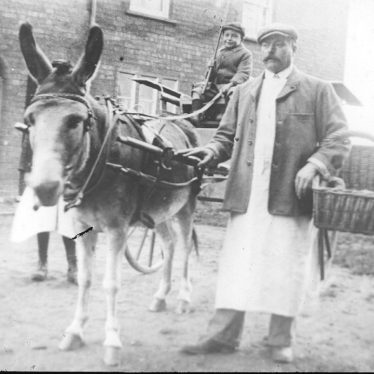 Cubbington.  Bread delivery by donkey and trap