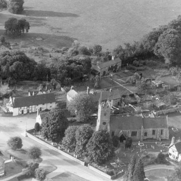 Clifford Chambers.  Aerial view of St Helen's church