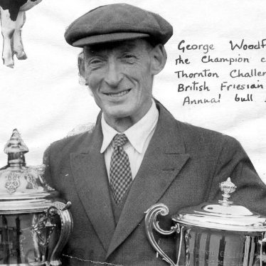 Clifford Chambers.  George Woodfield with trophies