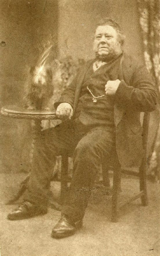 Mr. Seth Smith, Clifford Chambers blacksmith, 1817 to 1901.  1880s |  IMAGE LOCATION: (Warwickshire County Record Office) PEOPLE IN PHOTO: Smith, Seth, Smith as a surname