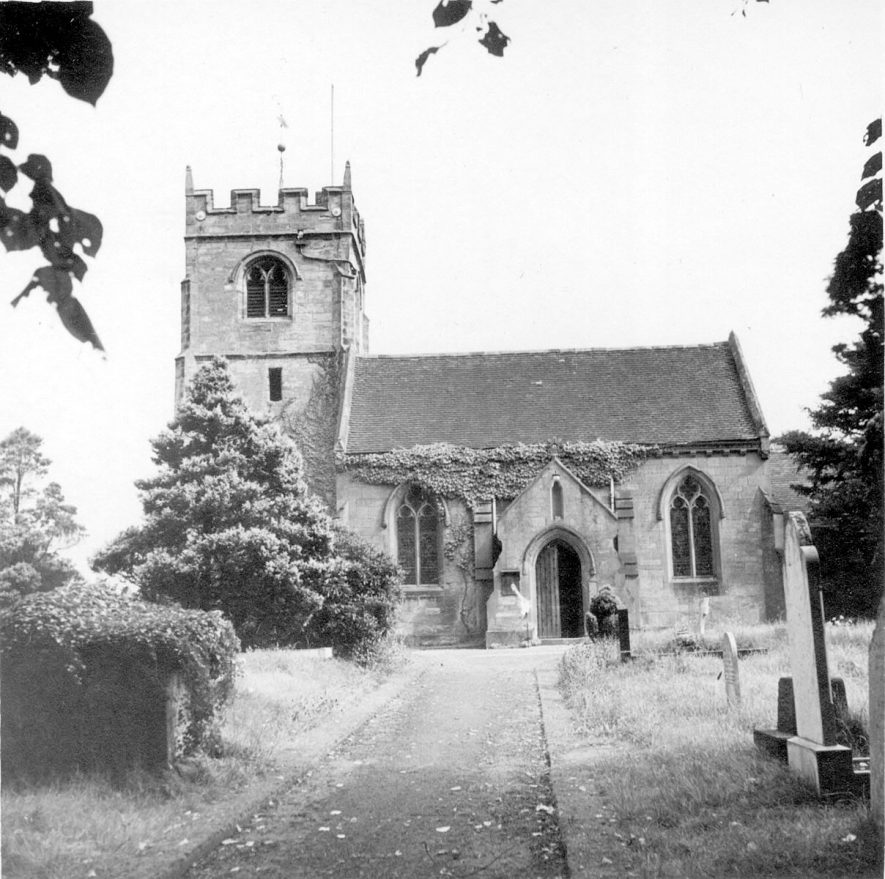 Exterior of St Giles church, Exhall, nr Coventry.  1946 |  IMAGE LOCATION: (Warwickshire County Record Office)