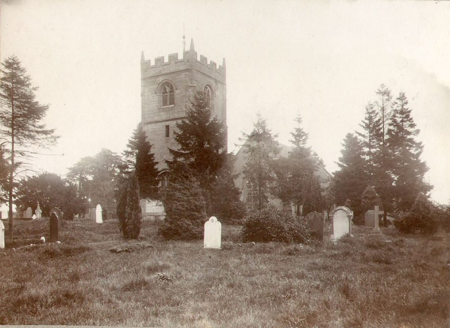St Giles church, Exhall, nr Coventry.  1930s |  IMAGE LOCATION: (Warwickshire County Record Office)