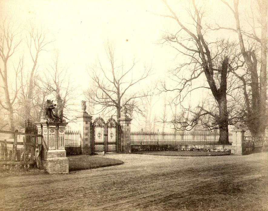 The east entrance to Charlecote Park designed by John Gibson of Westminster.  1860s |  IMAGE LOCATION: (Warwick Library)