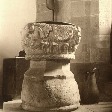 Curdworth.  Church font