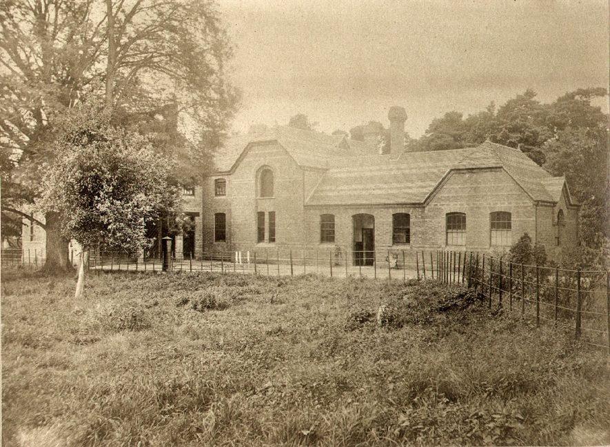 Eathorpe Hall stable block.  1880s    IMAGE LOCATION: (Warwickshire County Record Office)