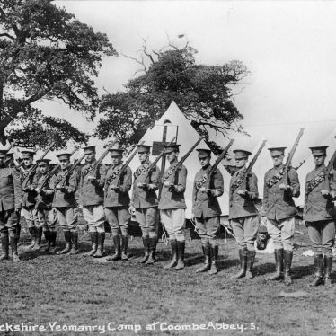Coombe Abbey.  Warwickshire Yeomanry Camp