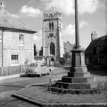 Dunchurch.  Church and village cross