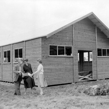 Eathorpe.  Village hall under construction
