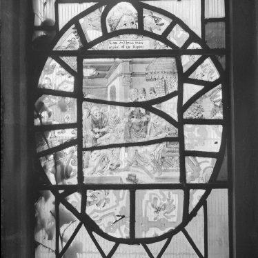 Radway.  Dutch glass in church window