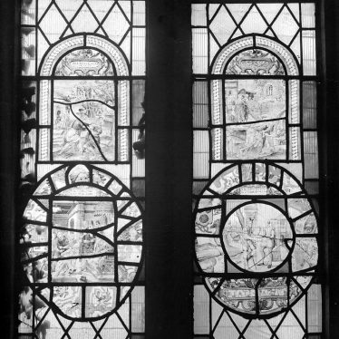 Radway.  Dutch glass in church window