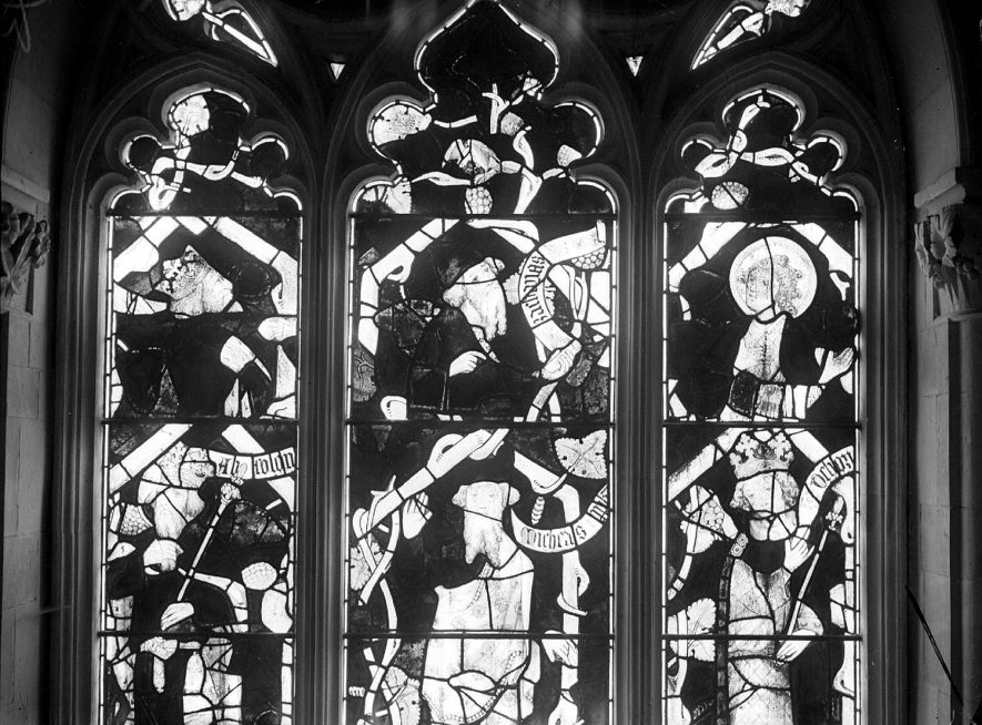 Stained glass window at Holy Trinity church, Ettington.  1920s |  IMAGE LOCATION: (Warwickshire County Record Office)