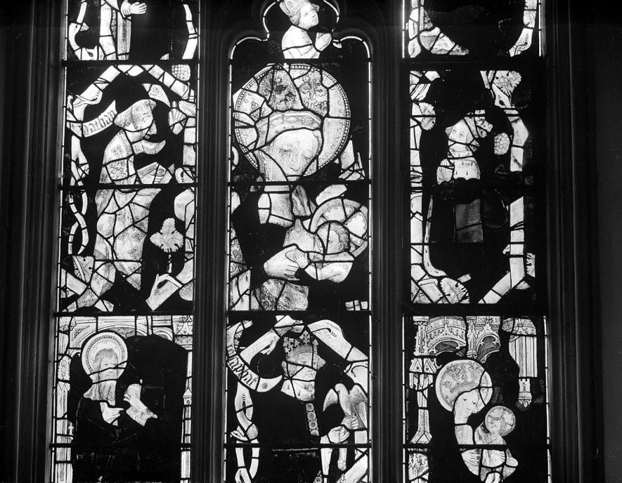 Stained glass window at  Holy Trinity church, Ettington, from Winchester College.  1920s |  IMAGE LOCATION: (Warwickshire County Record Office)