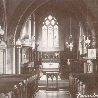 Farnborough.  Parish church interior
