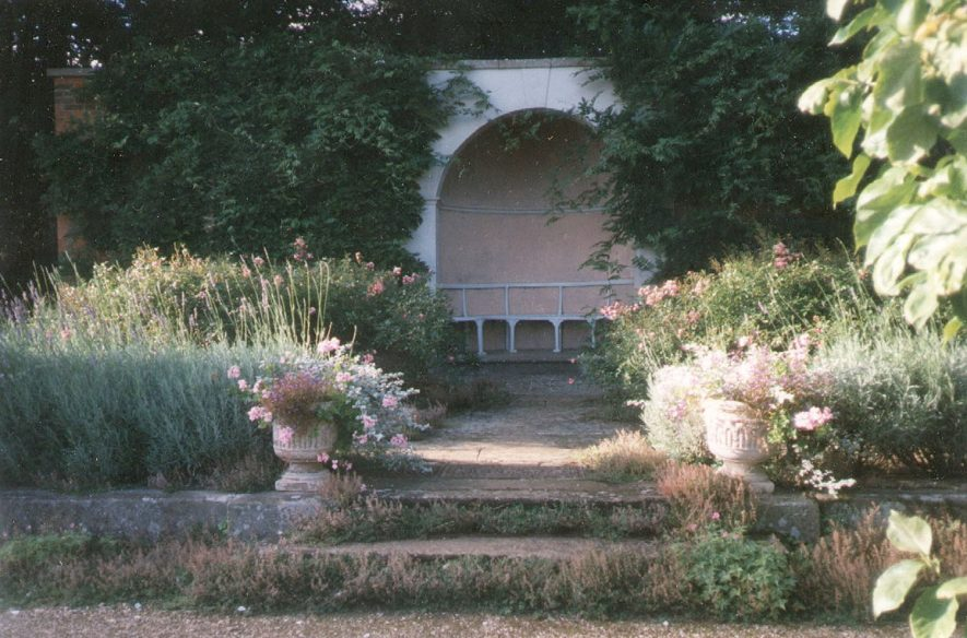 Colour photograph of an arbour in the grounds of Farnborough Hall. 1997 |  IMAGE LOCATION: (Warwickshire County Record Office)