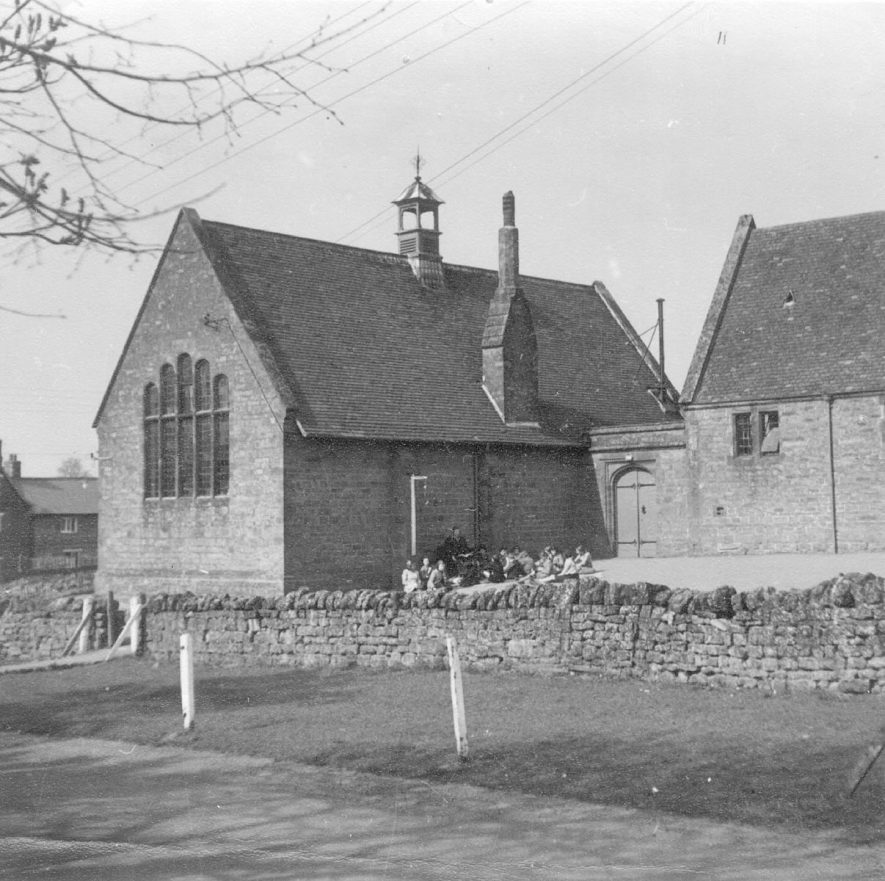 The main school, Fenny Compton, which was built in 1880.  1950s |  IMAGE LOCATION: (Warwickshire County Record Office)