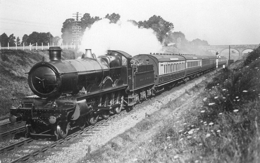 A steam train at Fenny Compton.  1920's