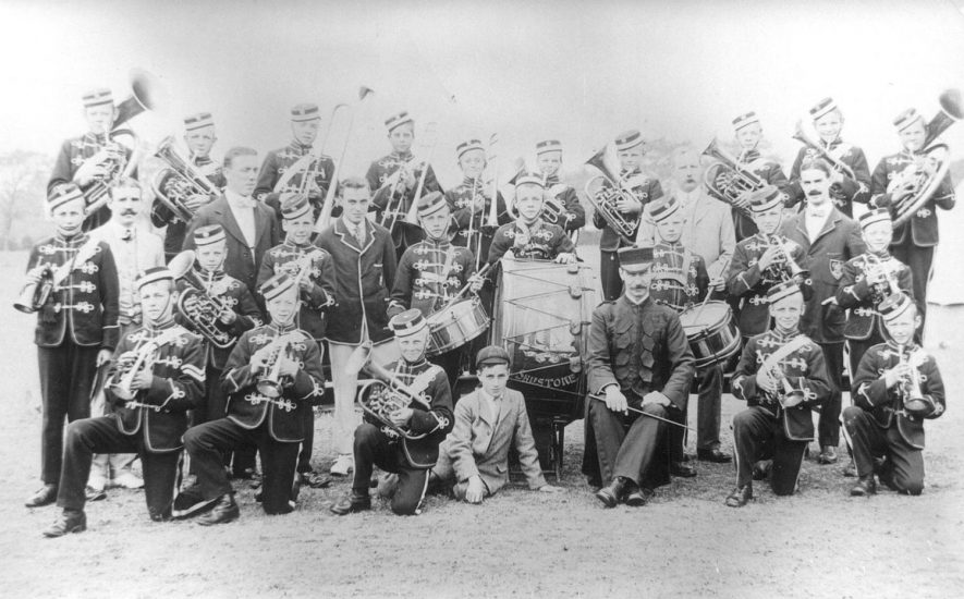 Shawbury Industrial school band, Fillongley.  1911 |  IMAGE LOCATION: (Warwickshire County Record Office)