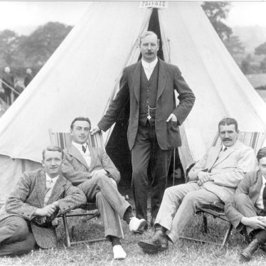 Fillongley.  Shawbury Industrial School masters at camp