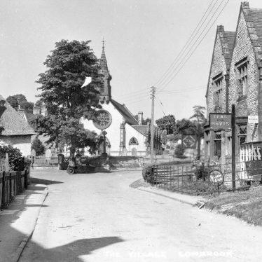 Combrook.  Village scene