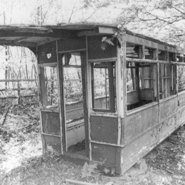 Fillongley.  Derelict tram