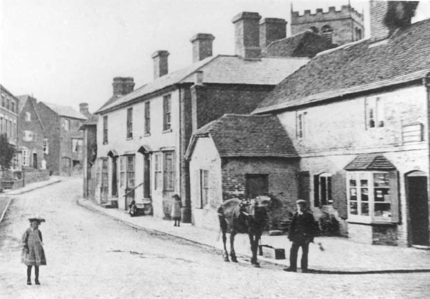 Fillongley village street and post office.  1900s |  IMAGE LOCATION: (Warwickshire County Record Office)
