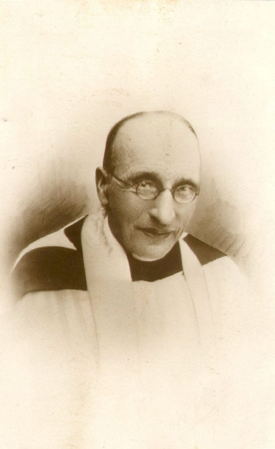The Rev. Arthur Bicknell Stevenson, M.A., rector of St Mary and All Saints church Fillongley.  1900s |  IMAGE LOCATION: (Warwickshire County Record Office) PEOPLE IN PHOTO: Stevenson, Revd A B, Stevenson as a surname