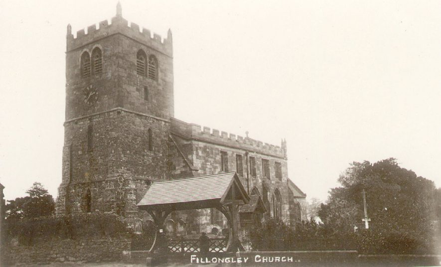 St Mary and All Saints church and lych gate, Fillongley.  1900s |  IMAGE LOCATION: (Warwickshire County Record Office)