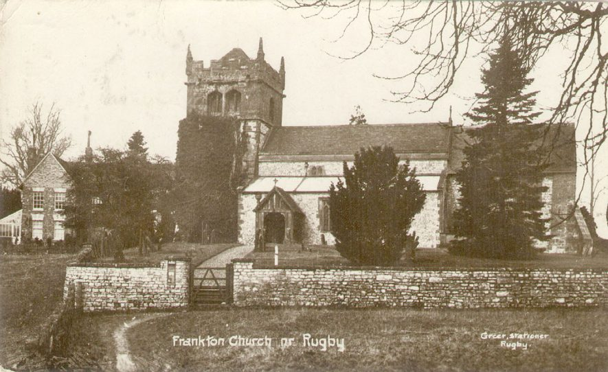 Exterior of St Nicholas church, Frankton.   1920s |  IMAGE LOCATION: (Warwickshire County Record Office)