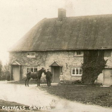Gaydon.  Old cottages