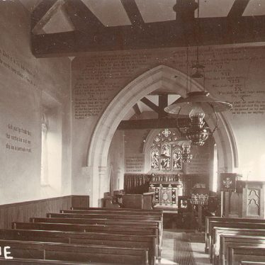 Great Alne.  St Mary Magdalene church interior