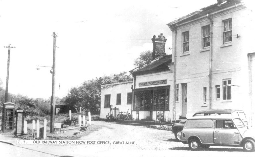 The post office and general stores (formerly the railway station), Great Alne.  1960s    IMAGE LOCATION: (Warwickshire County Record Office)