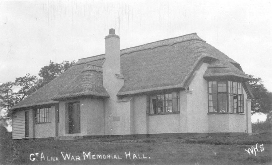 The war memorial hall, Great Alne.  1930s |  IMAGE LOCATION: (Warwickshire County Record Office)