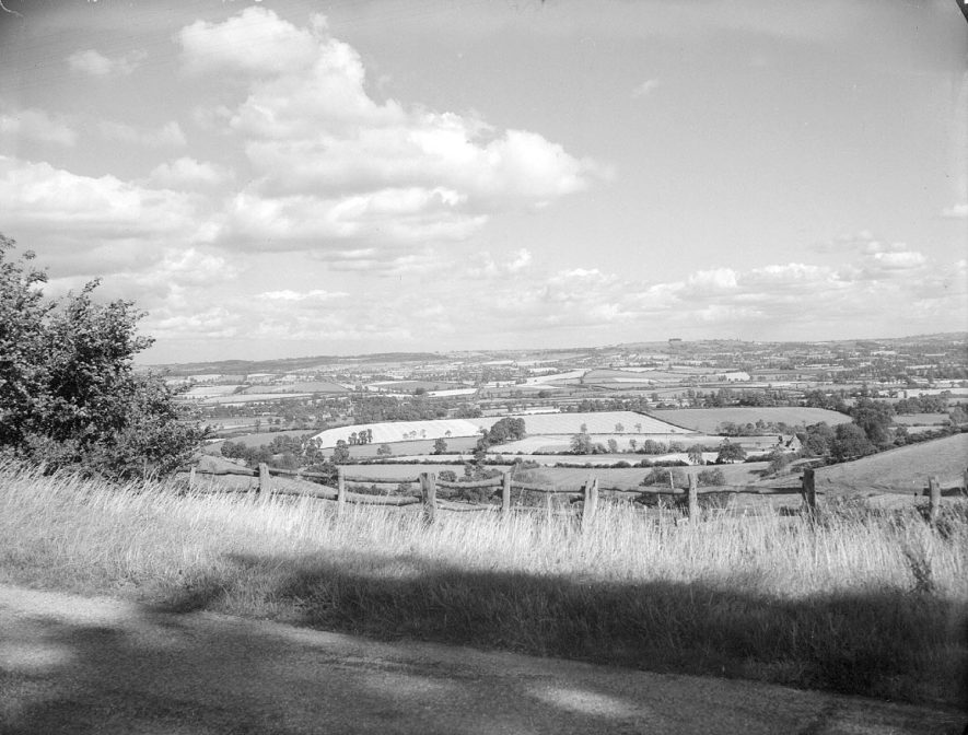 A view looking towards Foxcote, from Foxcote Hill.  August 11th 1956 |  IMAGE LOCATION: (Warwickshire County Record Office)
