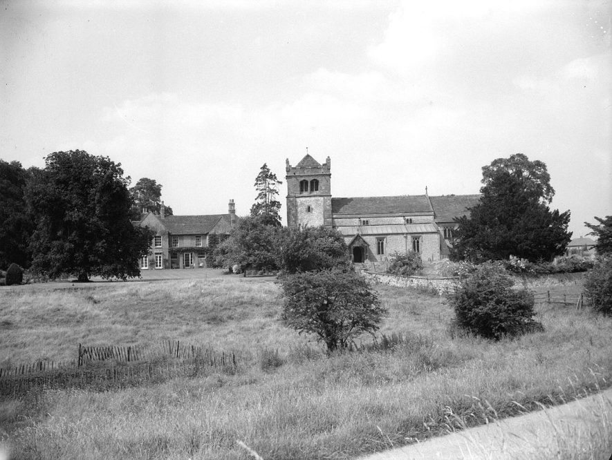 The Manor House and St Nicholas church, Frankton.  July 20th 1958 |  IMAGE LOCATION: (Warwickshire County Record Office)