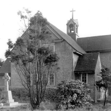 Galley Common.  St Peter's church and war memorial