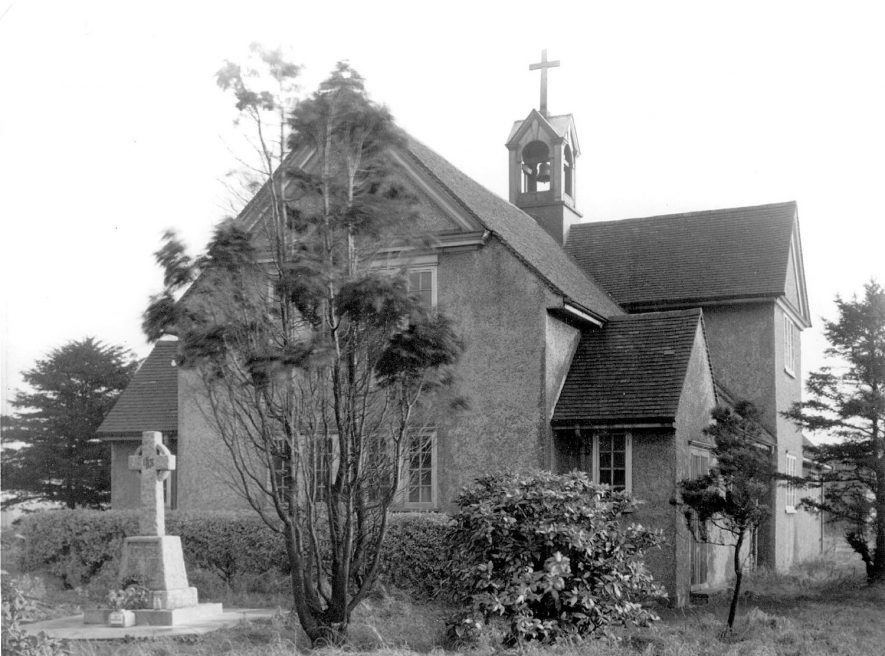 St Peter's church and war memorial, Galley Common.  1950s |  IMAGE LOCATION: (Warwickshire County Record Office)