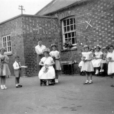 Gaydon.  School pupils, possibly at May Day