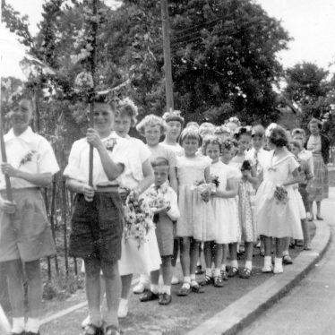 Gaydon.  School pupils possibly on May Day