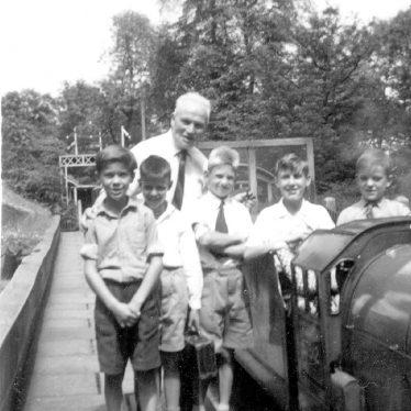 Gaydon.  School pupils on a school outing